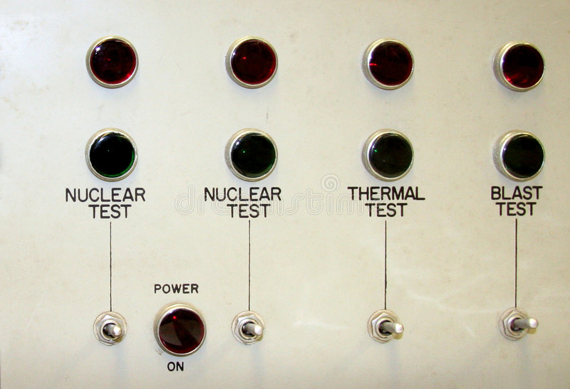 Nuclear test panel royalty free stock images