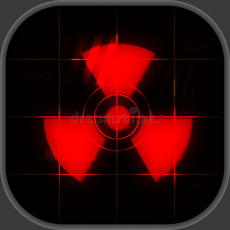 Download Nuclear warning stock illustration. Image of screen, technology - 18823087