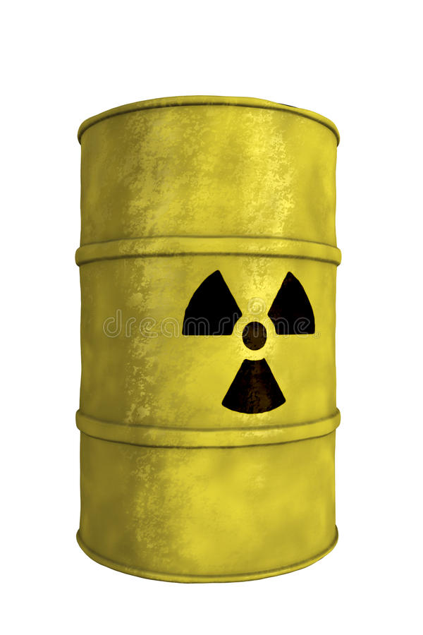 Free Nuclear Waste Barrel Royalty Free Stock Photos - 19881098