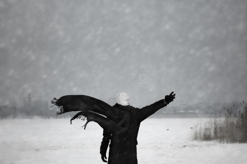 Nuclear winter stock photo
