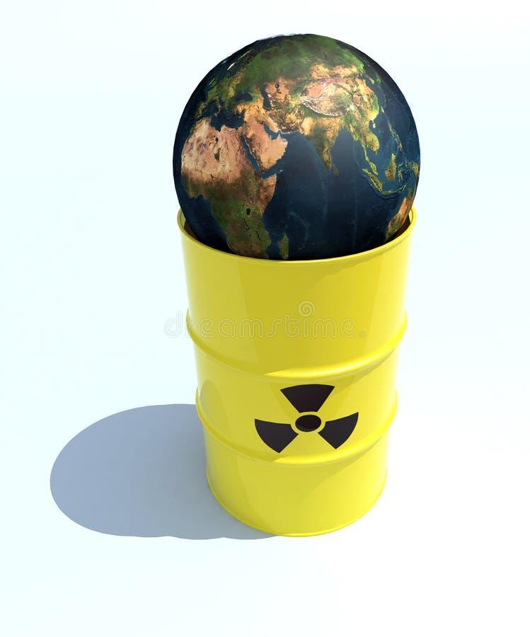 Nuclear world inside the bin stock photo