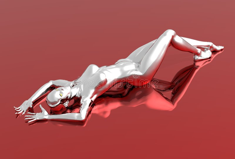 nude ασημένια γυναίκα απεικόνιση αποθεμάτων
