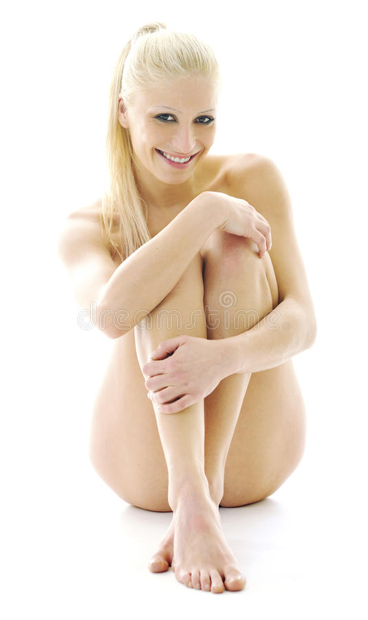 Nude attractive woman