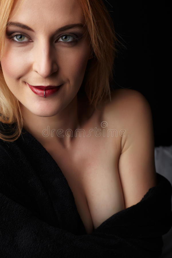 Nude Caucasian Woman royalty free stock photography