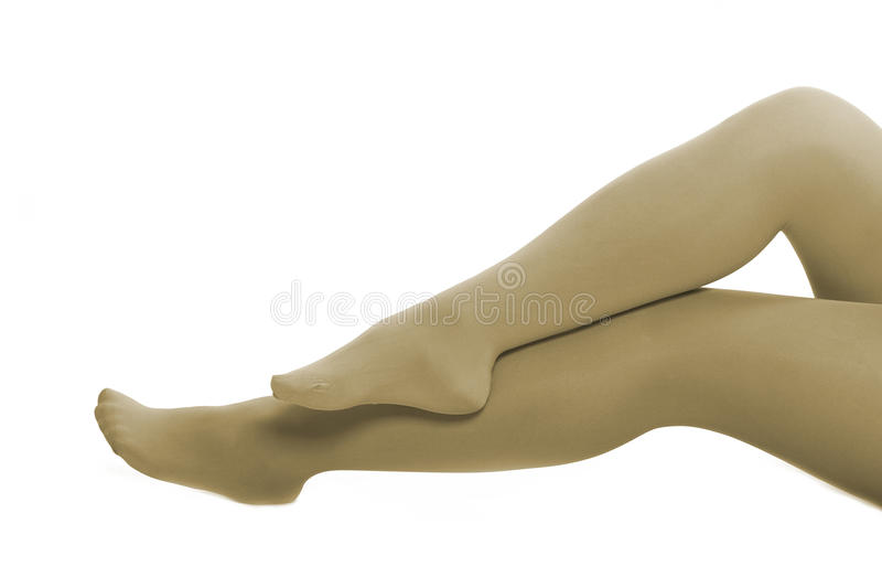 Nude Color Stocking Stock Image