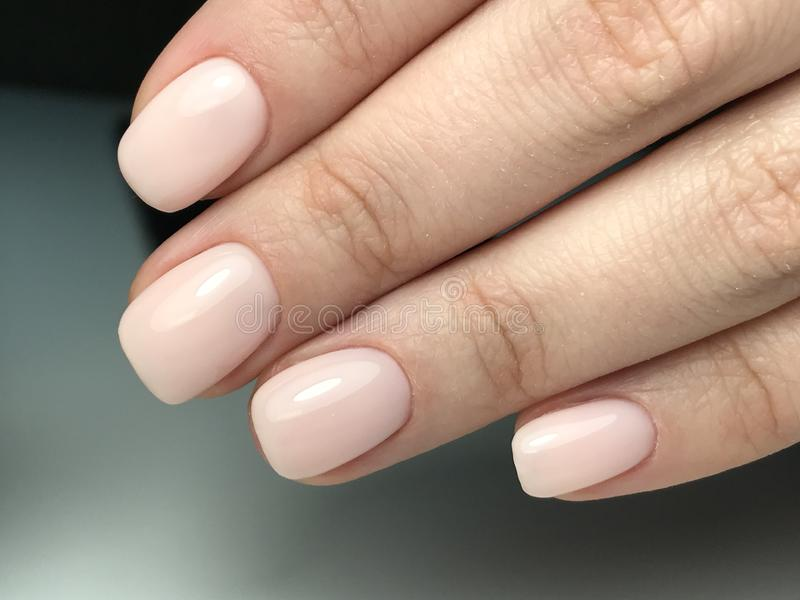 Nails with clean manicure stock photo  Image of certificate