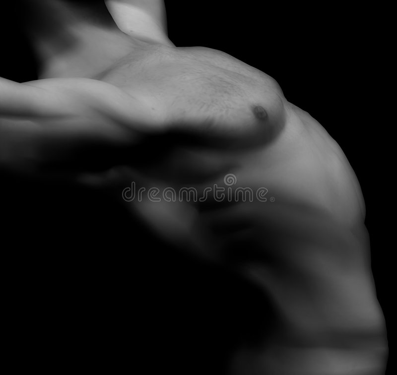 Nude male-13 vector illustration