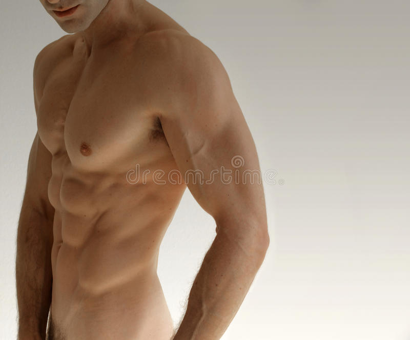 Nude man stock photography