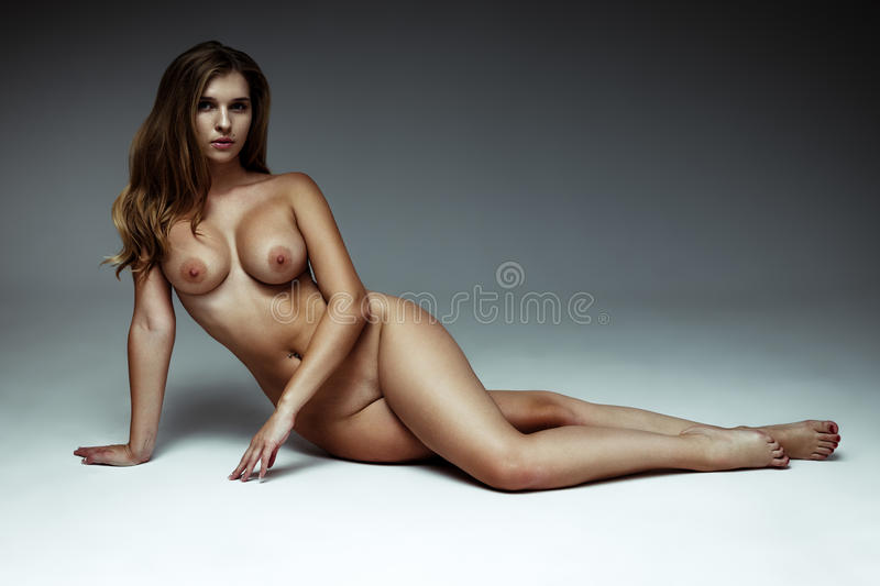 Long Hair Big Tits - Download Nude Slim Body Of The Beautiful Woman With Long Hair. Stock Photo  - Image