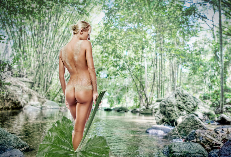 Download Nude woman in pond stock image. Image of beautiful, lake - 15179965
