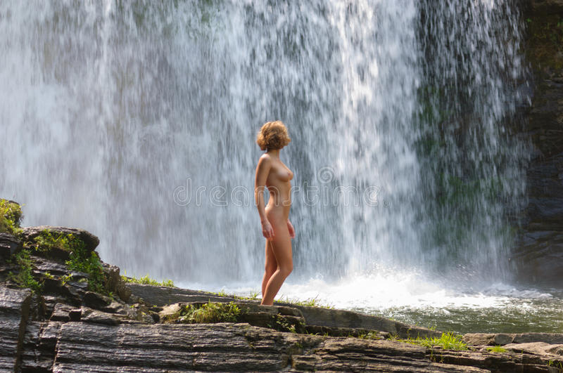 Nude Wife At Waterfalls