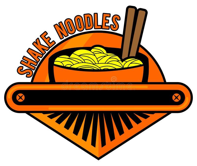 Nudeln Logo Cafe lizenzfreies stockfoto