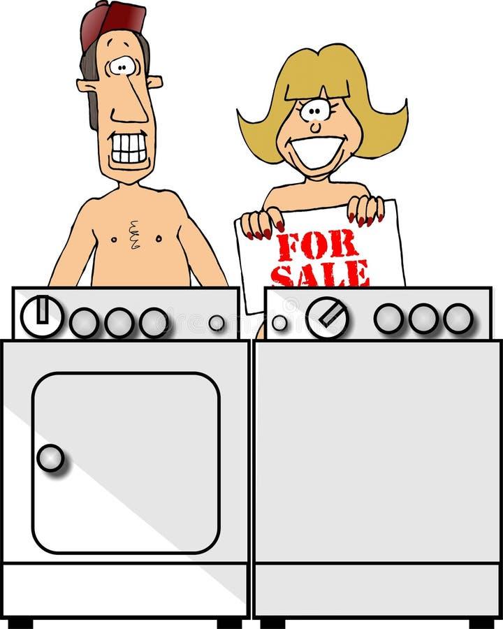 Nudistes illustration libre de droits