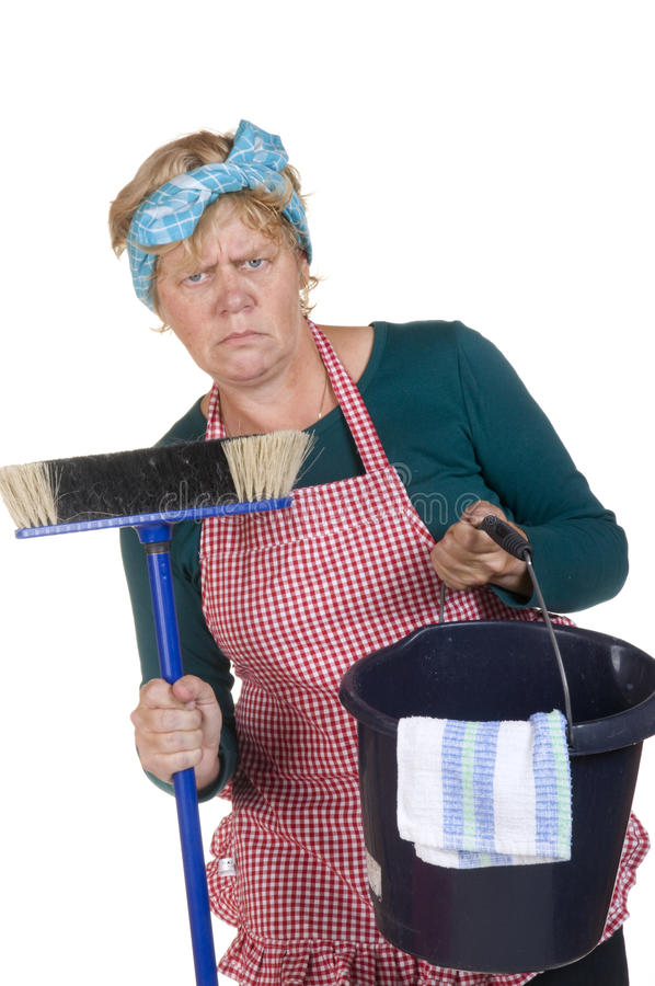 nudny housekeeping obrazy stock