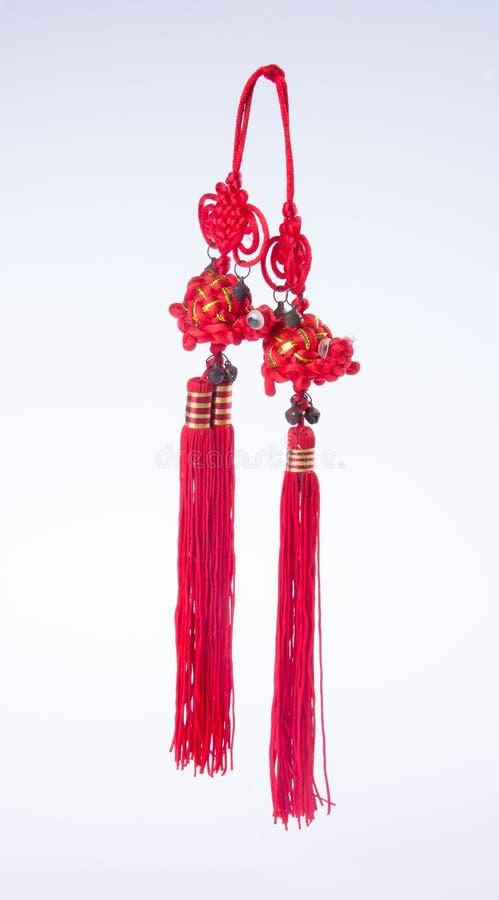 nudo chino o nudo afortunado para la decoración china del Año Nuevo en vagos foto de archivo libre de regalías