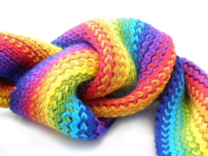 Nudo de la bufanda del color fotografía de archivo