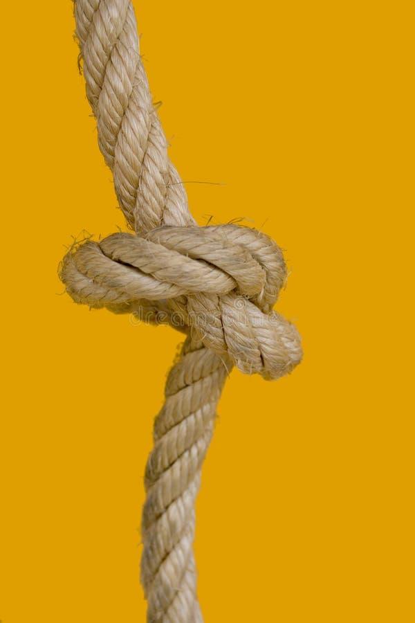 Nudo de la cuerda imagen de archivo