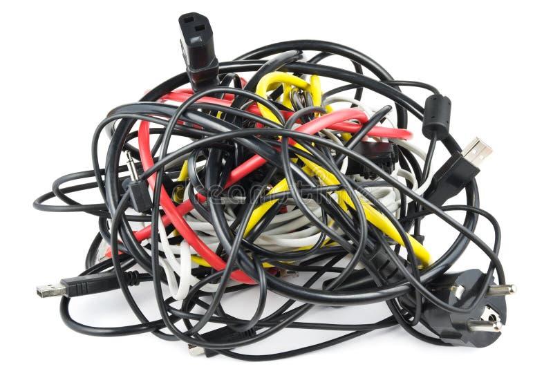 Nudo de los cables imagen de archivo libre de regalías