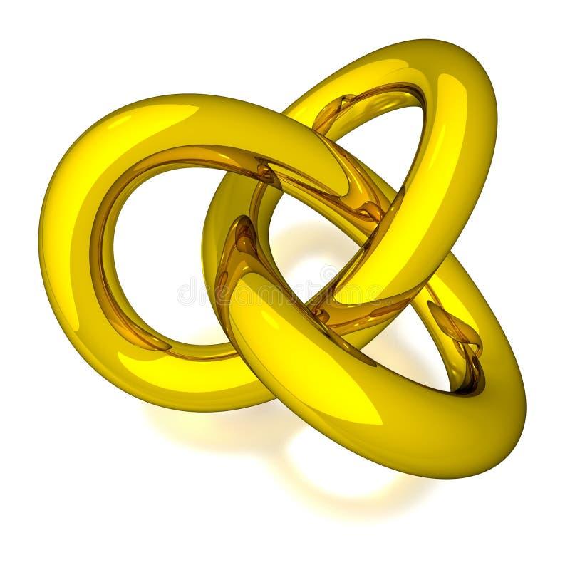 nudo del oro 3D libre illustration