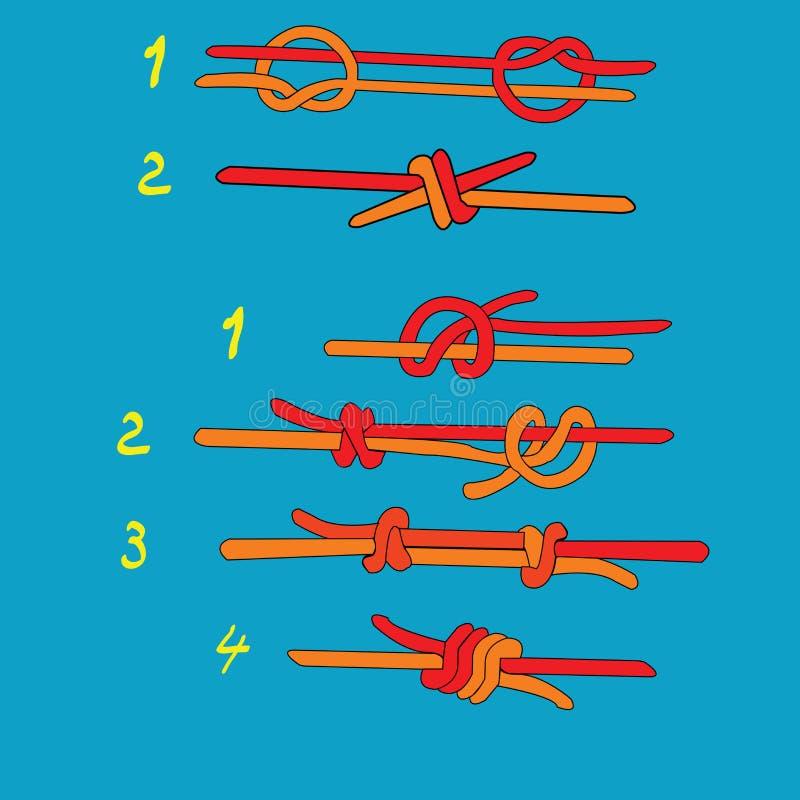 Nudo del ` s del pescador ilustración del vector