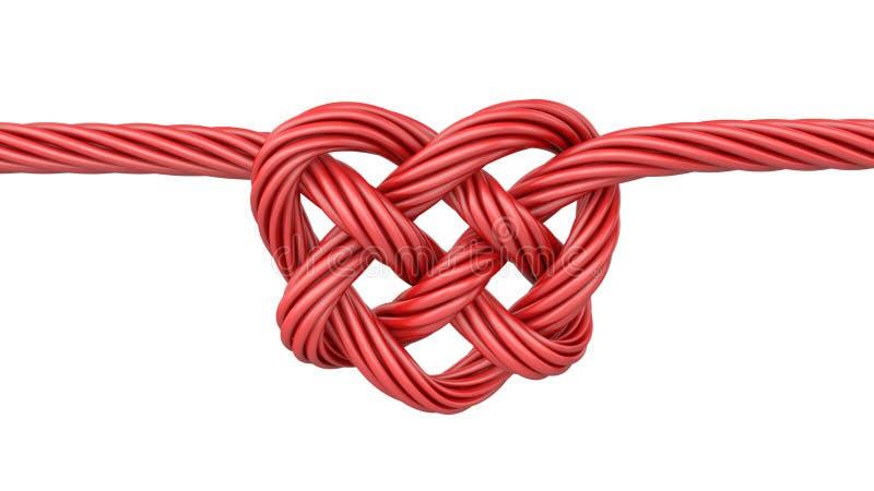 Nudo en forma de corazón rojo fotos de archivo