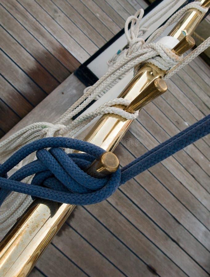 Nudos de la cuerda imagen de archivo