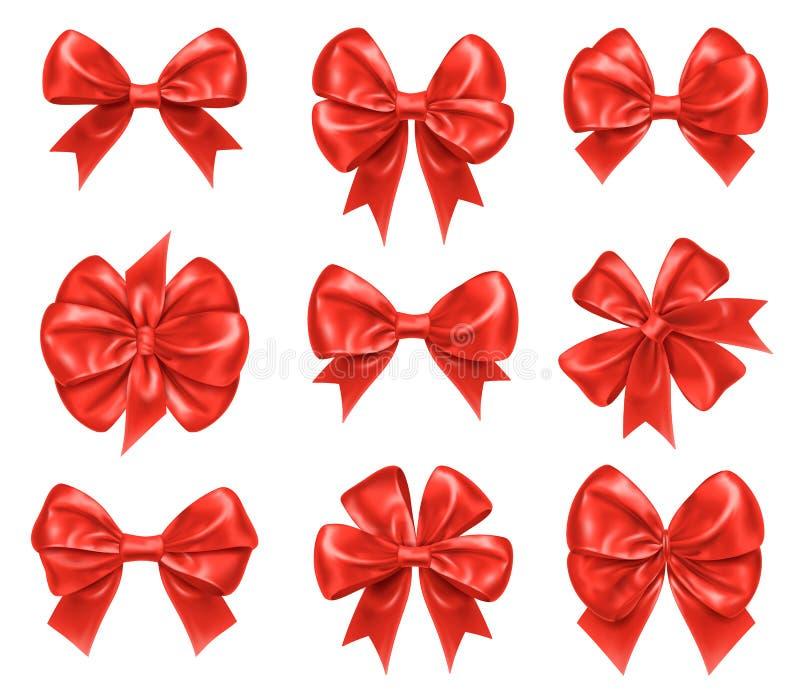 Nudos del arco por Año Nuevo y decoraciones del regalo de Navidad libre illustration