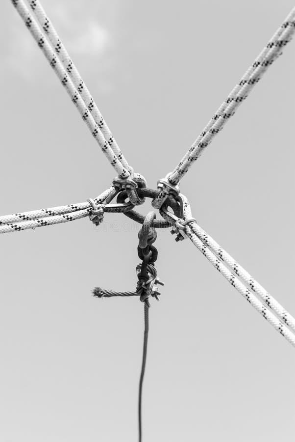 Nudos en el aire imagen de archivo
