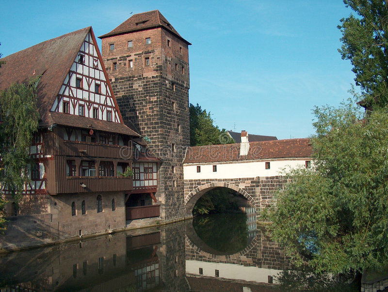 Download Nuernberg Germany stock photo. Image of water, bridge, stone - 28578