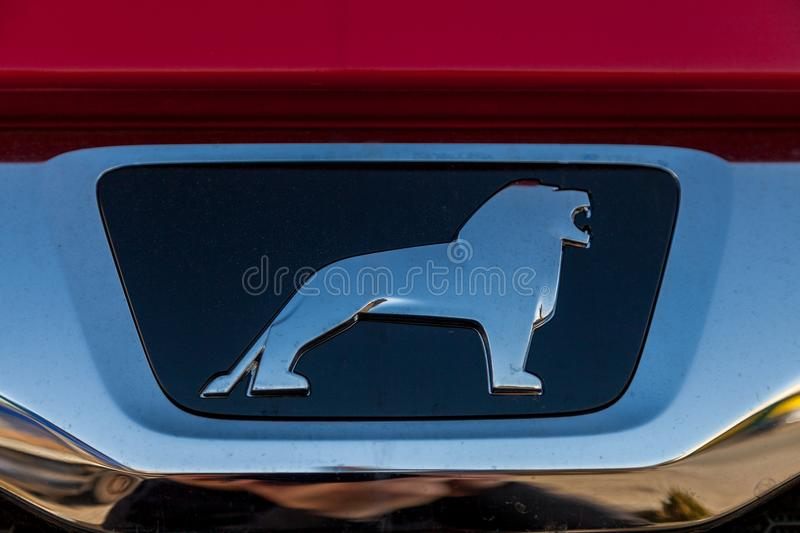 MAN logo on MAN TGS 35.460 8X8 dumper truck royalty free stock photography