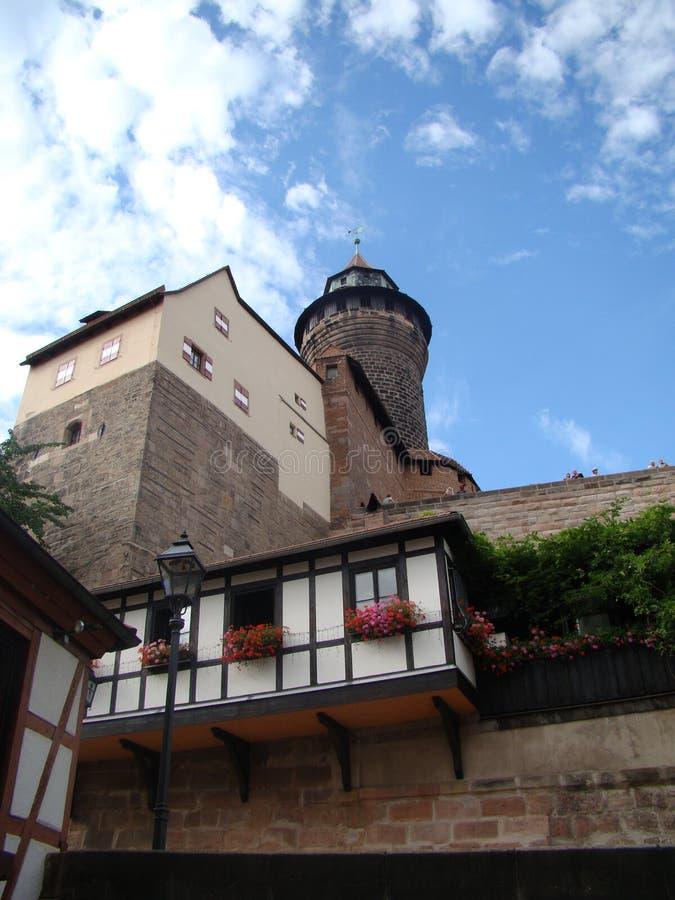 Nuernberger Burg royalty-vrije stock foto's
