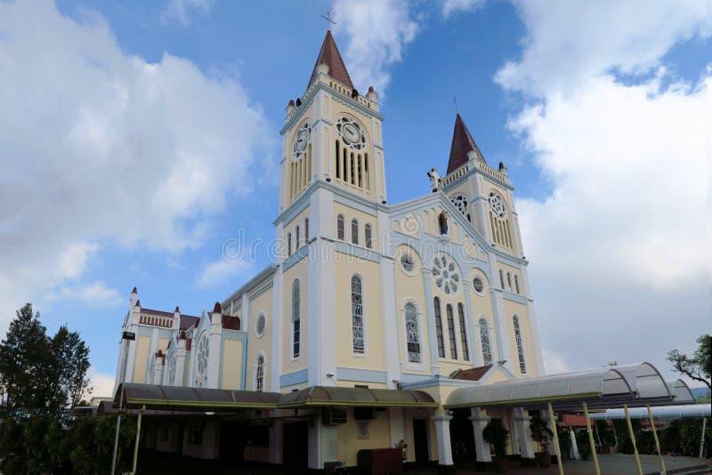Nuestra señora de la catedral de la reparación en la ciudad de Baguio fotografía de archivo libre de regalías
