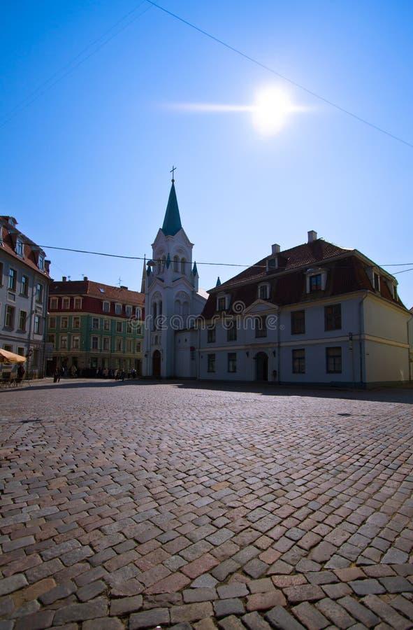 Nuestra señora de la iglesia de los dolores en Riga foto de archivo libre de regalías