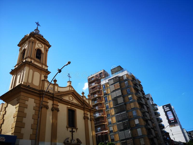 Nuestra Señora del Pilar Church, Cordoba, Argentina. RremLocated at the intersection of Maipú and Olmos Avenues, in Cordoba city, Argentina, the building stock photography