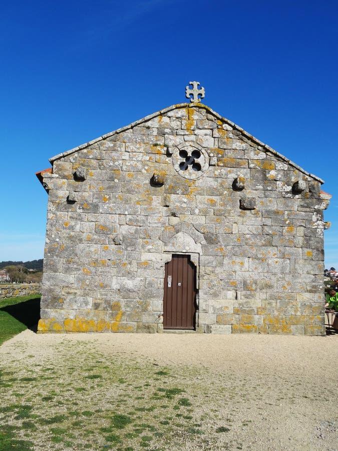 Nuestra Señora Lanzada church - North Coast Spain. Ermida da Nosa Señora da Lanzada (church), Galicia, North Coast Spain stock image
