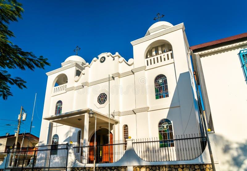 Nuestra Senora de Los Remedios Church in Flores, Guatemala fotografia stock libera da diritti