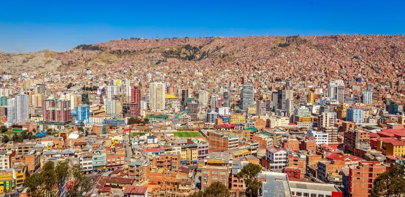 Nuestra Senora de losu angeles Paz miasta kolorowy centrum miasta z udziałami obraz royalty free