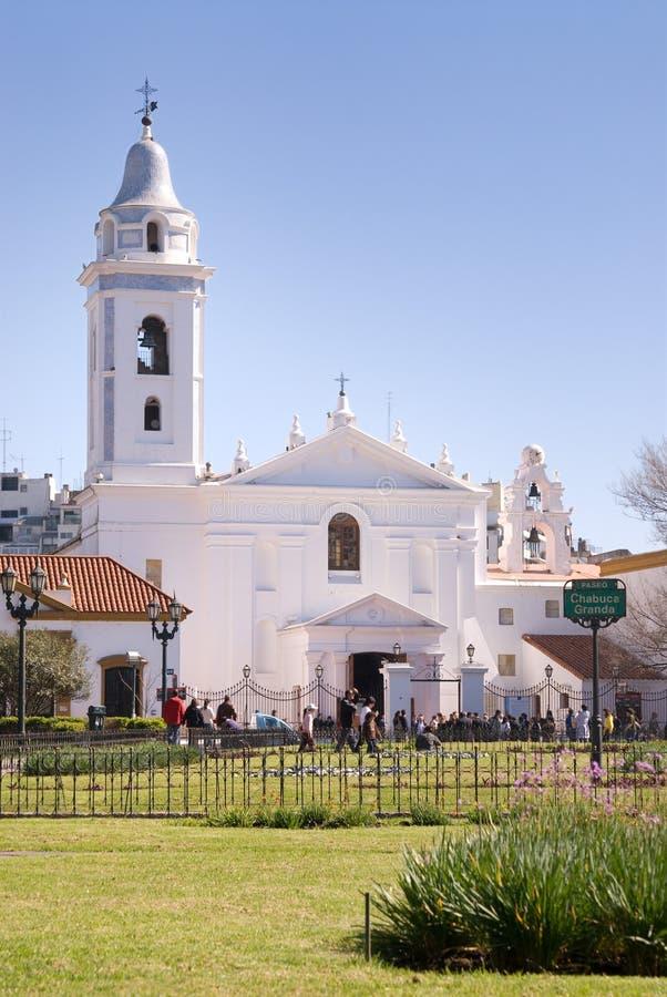 Nuestra Senora del Pilar Church in Buenos aires stock foto's