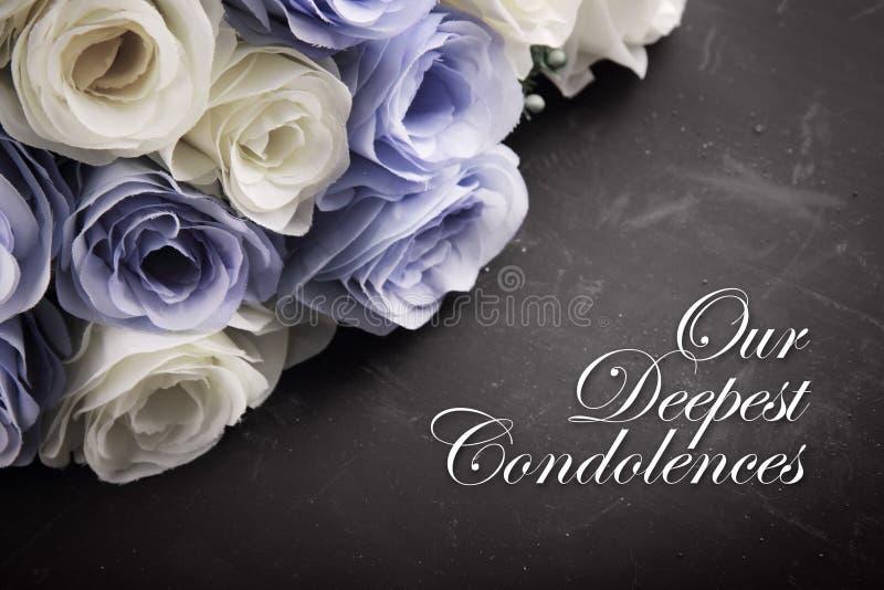 Nuestras condolencias más profundas fotos de archivo libres de regalías