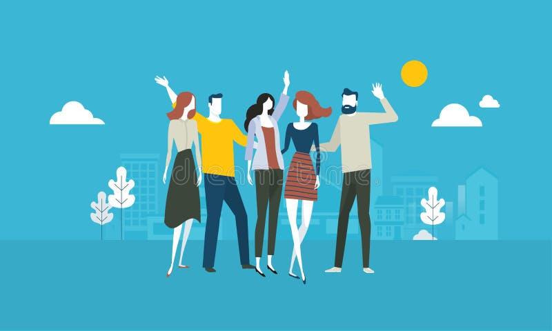 Nuestras personas ilustración del vector
