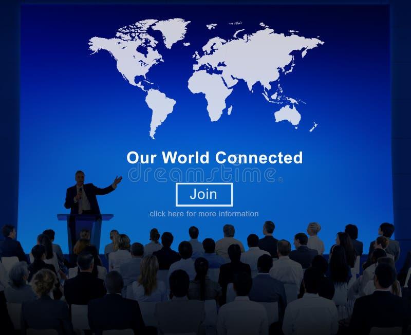 Nuestro concepto social conectado mundo de la interconexión del establecimiento de una red foto de archivo