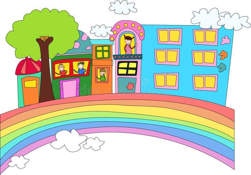 Nuestro hogar ilustración del vector