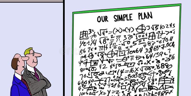 Nuestro plan simple ilustración del vector