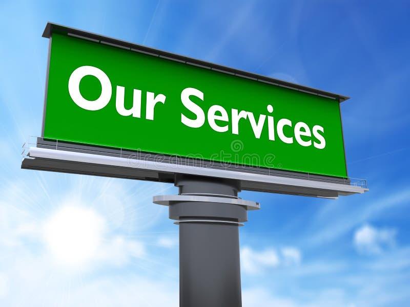 Nuestros servicios stock de ilustración