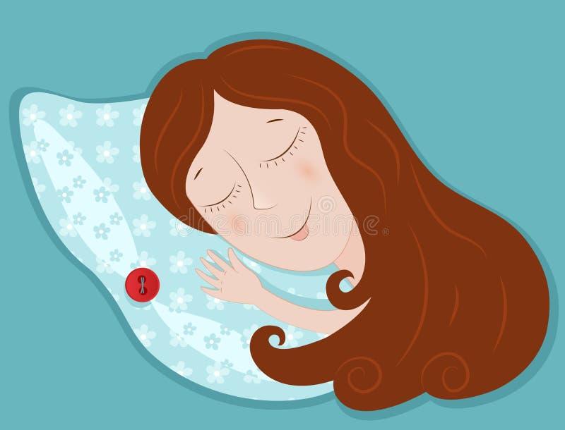 Nueva almohada. ilustración del vector