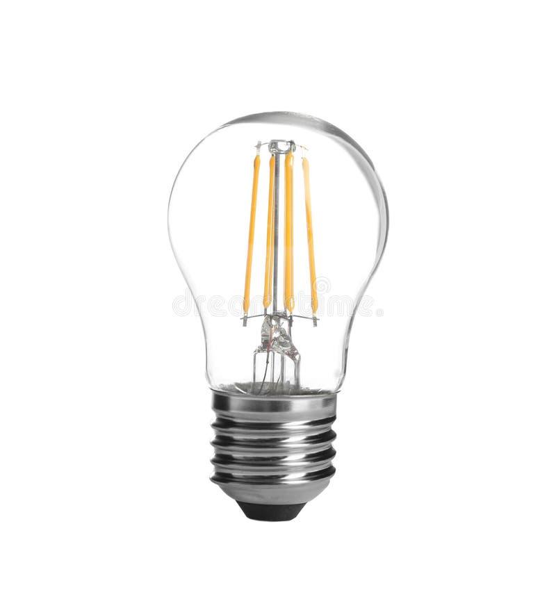 Nueva bombilla incandescente para las lámparas modernas en blanco foto de archivo libre de regalías