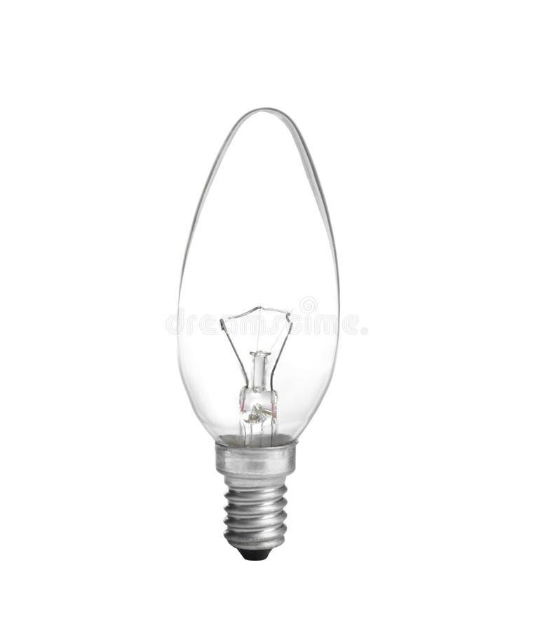 Nueva bombilla incandescente para las lámparas modernas en blanco fotos de archivo libres de regalías