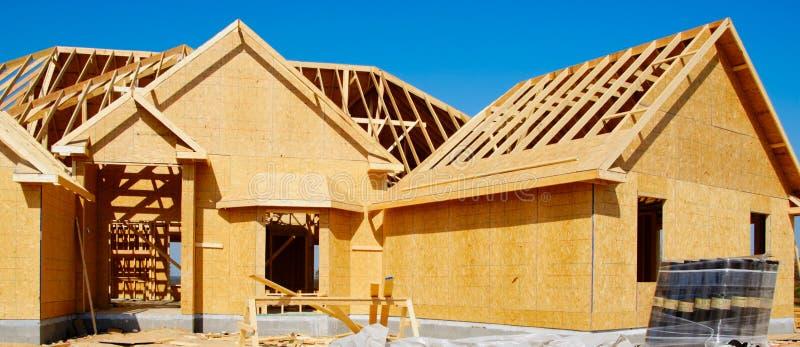 Nueva casa bajo construcción foto de archivo libre de regalías
