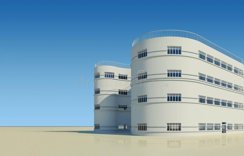 Nueva casa de la configuración moderna libre illustration