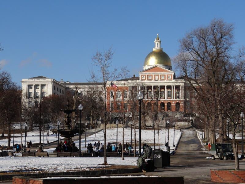 Nueva casa del estado, Boston imágenes de archivo libres de regalías
